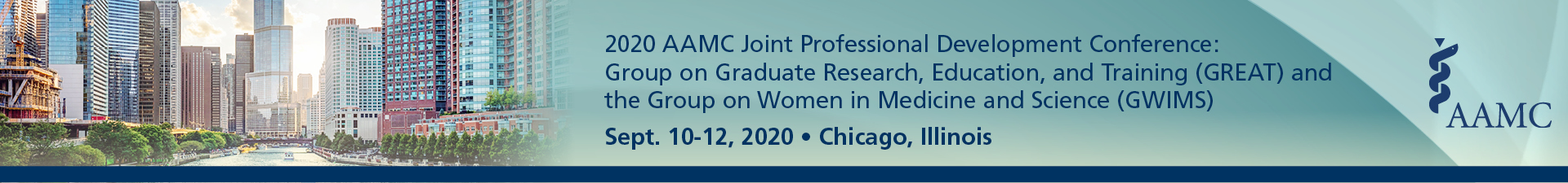 2020 AAMC GREAT and GWIMS Joint Professional Development Conference Event Banner