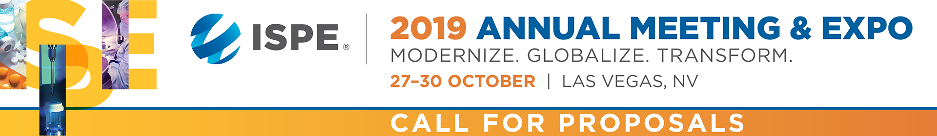 2019 ISPE Annual Meeting & Expo Event Banner