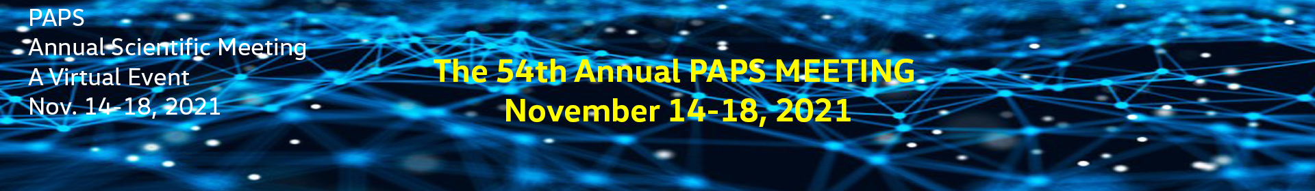 PAPS 2021 Event Banner