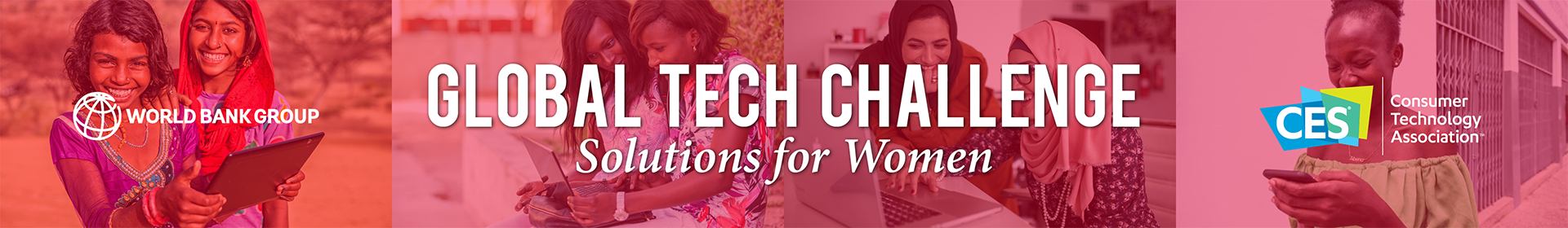 Global Tech Challenge: Solutions for Women Event Banner